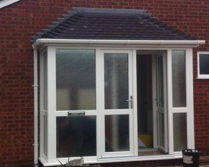 Porches porch upvc double glazing porches upvc front for Upvc glass front doors